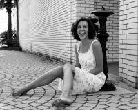 skratta för flicka som är teen Fotografering för Bildbyråer