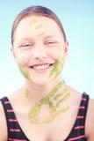 skratta för flicka som är teen Royaltyfri Foto