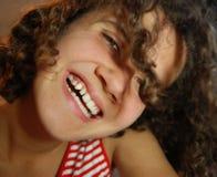 skratta för flicka som är trevligt Royaltyfria Bilder