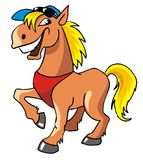 skratta för häst Arkivbilder