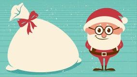 Skratta för jultomten arkivfilmer