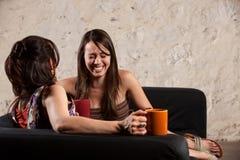 Skratta för kvinnligvänner Royaltyfri Foto