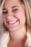 skratta för skönhet Royaltyfria Foton