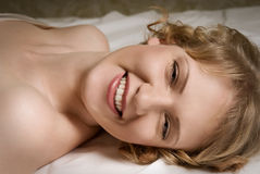 skratta för underlagflicka Royaltyfri Foto