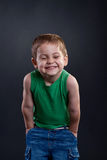 skratta för unge Fotografering för Bildbyråer
