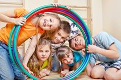 skratta för barn Royaltyfria Foton