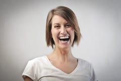 skratta kvinna royaltyfri fotografi