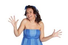 skratta kvinnabarn Royaltyfri Foto