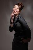 skratta kvinnabarn Royaltyfri Fotografi