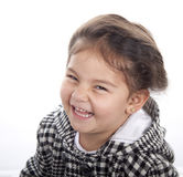 Skratta lycklig flicka Royaltyfri Fotografi