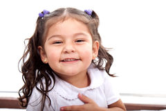 Skratta lycklig flicka Fotografering för Bildbyråer