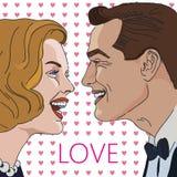 Skratta mannen och kvinnor vektor illustrationer