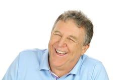 Skratta medelåldrig man Fotografering för Bildbyråer