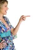 skratta peka kvinnan Royaltyfri Fotografi