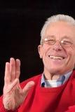 skratta pensionär Fotografering för Bildbyråer