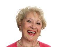 skratta pensionär för lady arkivfoton