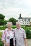 skratta pensionär för par Fotografering för Bildbyråer