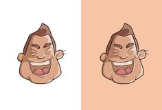 Skratta pojketecknad filmframsidan stock illustrationer