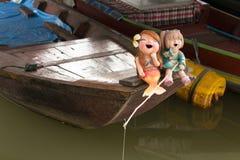 Skratta sjöjungfruar Royaltyfri Foto