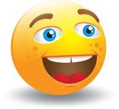 skratta smiley för framsida stock illustrationer