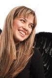skratta stående för ängel Royaltyfri Foto