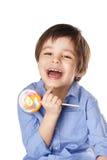 Skratta ungen Fotografering för Bildbyråer