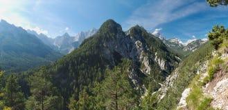 Skrbinjek mountain above the valley of Pisnica north from Krajnska Gora Stock Images