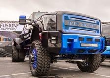 Skräddarsy lastbil, anslutning SEMA för specialitetutrustningmarknad, Royaltyfri Fotografi