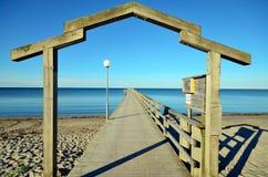 Skrea strand pier Royalty Free Stock Image