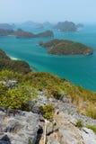 Skärgård på den Angthong medborgaren Marine Park i Thailand Royaltyfria Bilder