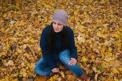 Skriande flicka Fotografering för Bildbyråer