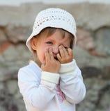 skriande flicka Royaltyfri Fotografi