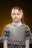 skriande flicka little Fotografering för Bildbyråer