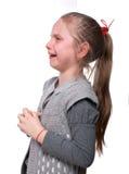 Skriande liten flicka Fotografering för Bildbyråer