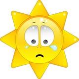 skriande sun stock illustrationer