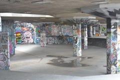 Skridskon parkerar den södra bankmitten London Royaltyfria Bilder