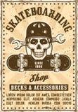 Skridskon shoppar affischen för vektoradvertizingtappning Royaltyfri Illustrationer