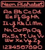 skrift för alfabeteps-neon Arkivbild