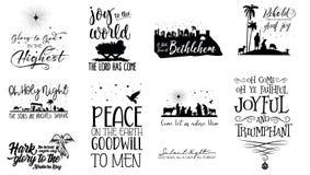 Skriftenjulcitationstecken stock illustrationer