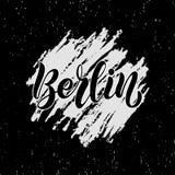 Skriftlig bokstäver för hand för stadsnamnet Berlin stock illustrationer
