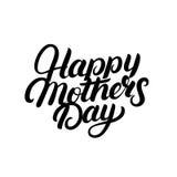 Skriftlig bokstäver för lycklig för moder` s hand för dag Royaltyfria Bilder