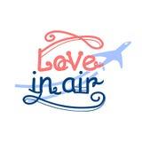 Skriftlig bokstäverförälskelse för hand i luften Trendig logovektor Royaltyfria Foton