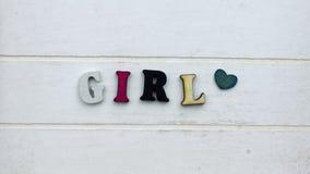 Skriftlig flicka arkivbilder