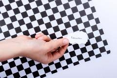 Skriftlig utbildning ett stycke av sönderrivet papper Fotografering för Bildbyråer