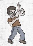 Skrik skyddar stock illustrationer