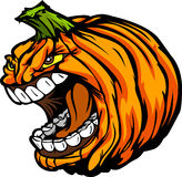 Skrika huvud för Halloween Sila-O-Lykta pumpa stock illustrationer