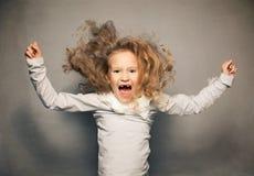 Skrikig flicka Fotografering för Bildbyråer