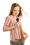 Skrikig rockstjärna Royaltyfri Fotografi