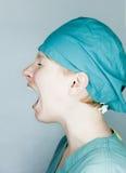 Skrikig sjuksköterska Royaltyfria Foton