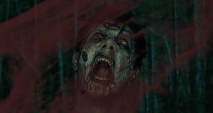 skrikig zombie Arkivfoton